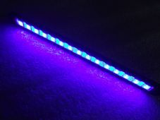 LED strip with machined cnc black case blue leds,running light